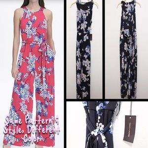 NWT Size 12 Tommy Hilfiger Blue Floral Jumpsuit